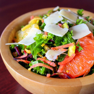 Citrus, Carrot, & Kale Salad with Pistachios