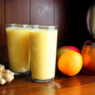 Cold-Busting Orange Mango Ginger Smoothie