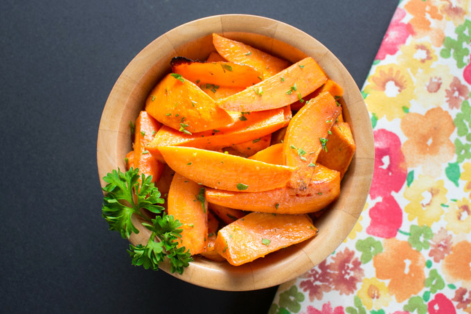 Oven-Roasted Cuban-Inspired Orange-Lime Sweet Potatoes with Garlic and Cumin